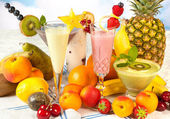 Healthy smoothies for a diet — Stock Photo