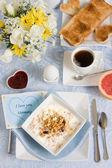 Breakfast for mom — Stock Photo