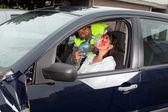 Unconscious driver — Stock Photo