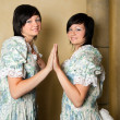 Zodiac Gemini girls - Stockfoto