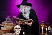 Halloween wizard — Stock Photo