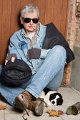 Blind beggar — Stock Photo