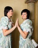 十二宫双子座女孩 — 图库照片