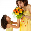 Flowers for mommy — Stock Photo