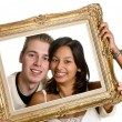 Framed love — Stock Photo
