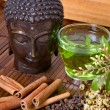 Herbs for buddha — Stock Photo