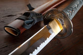 Japanese sword and sheath — Stock Photo