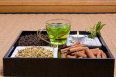 Kruiden op tatami — Stok fotoğraf