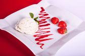 Sobremesa de morango — Foto Stock