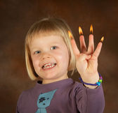 Candle fingers — Stock Photo