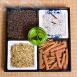 Herbs on tatami — Stock Photo #9767664