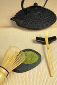 Zen tea on tatami — Stock Photo