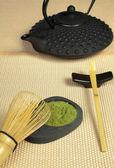 Zen çay tatami üzerinde — Stok fotoğraf