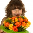 Flowers for mother — Stock Photo