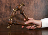 Judges gavel — Stock fotografie