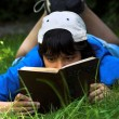 Reading Poetry — Stockfoto