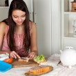 Woman making a lunchbox — Stock Photo #9861660