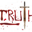 Stock Photo: Pen sword and truth