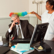 Cleaning the manager — Stock Photo #9864125