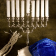 Постер, плакат: Shawl cap and menorah