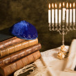 Symbols of judaism — Stock Photo
