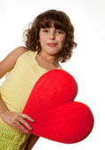 Big heart for mommy — Stock Photo