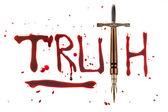 Verdade e caneta espada — Fotografia Stock