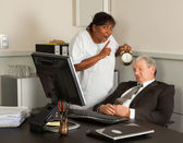 Manager taking a nap — Stock Photo