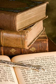 Torah pointer on books — Stock Photo