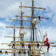 Stock Photo: Sailors in mast