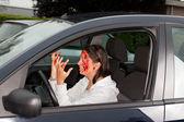 Car accident panic — Stock Photo