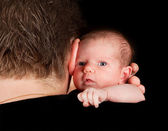 Baby safe with daddy — Stock Photo