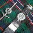 Kilt pin and scottish knife — Stock Photo #9987433