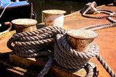 Old Rusted Capstans — Stockfoto