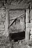 A Window through a Door — Stock Photo