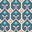 Stock Vector: Seamless pattern in navajo style