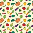 Seamless pattern with vegetables - Stock Vector