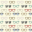 Royalty-Free Stock Vector Image: Seamless pattern with retro glasses and frames