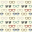 Seamless pattern with retro glasses and frames - Stock vektor