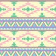 Stock Vector: Seamless indipattern in pastel tints