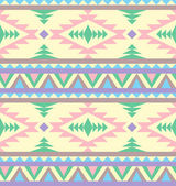 Seamless indian pattern in pastel tints — Stock Vector