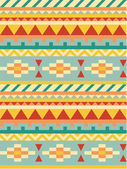 Bright aztec pattern — Stock Vector