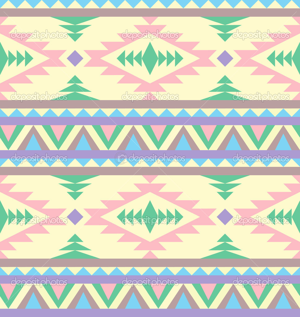 Seamless indian pattern in pastel tints — Stock Vector #10379197