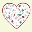 Valentine's day love postcard — Vettoriale Stock #8611299