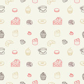Sweet seamless pattern — Stock Vector