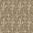 Anchor seamless pattern - Stock Vector