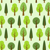 Tree seamless pattern — Stock Vector
