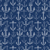 Anchor seamless pattern — Stock Vector