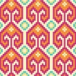 Stock Vector: Seamless pattern in ethnic style