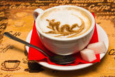 Great cappuccino — Stockfoto